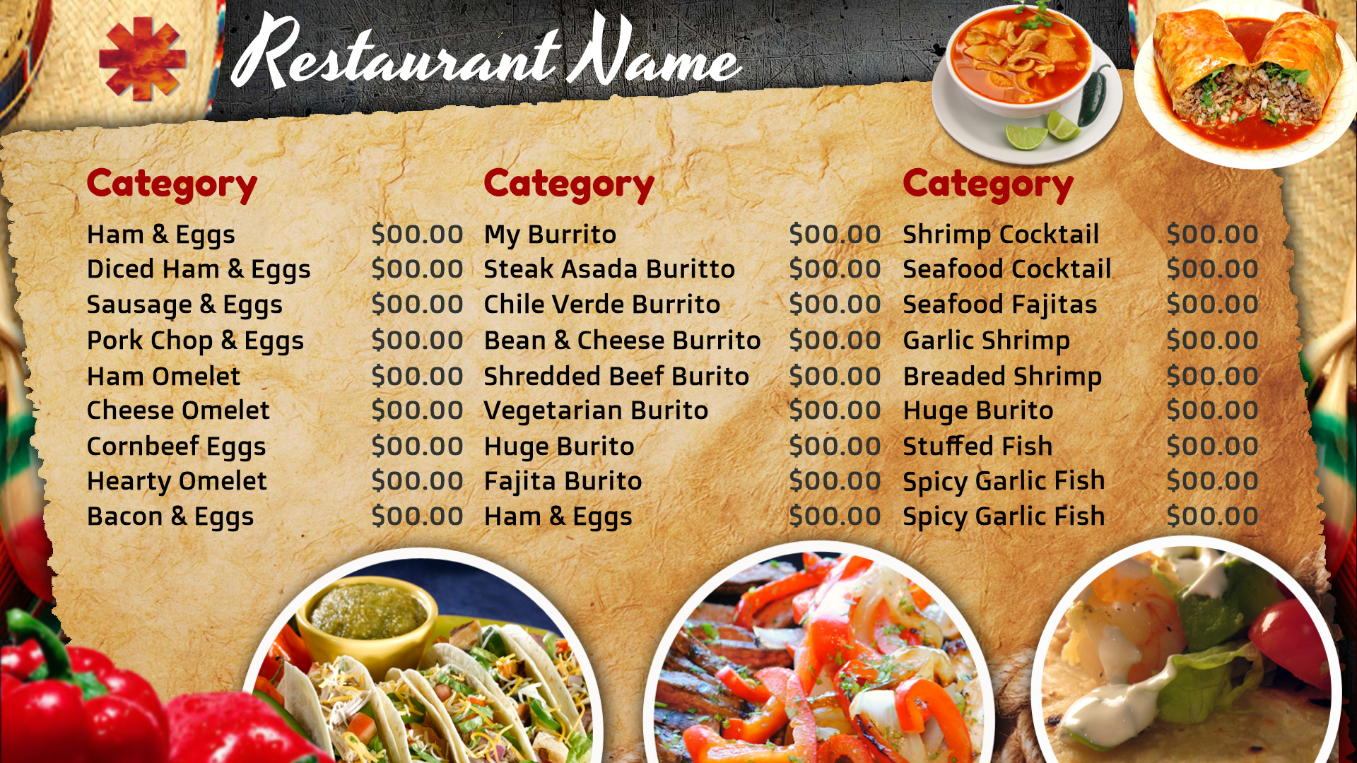 Restaurant Menu Templates Format For Noc Instruction Booklet Template Menu Template 5  Restaurant Menu